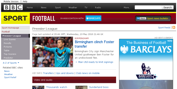 BBC inner page