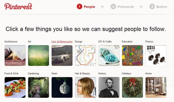 Pinterest visual form