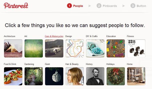 Pinterest visual form