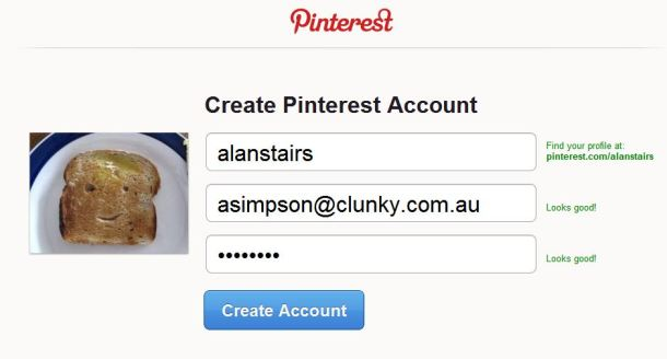 Pinterest Sign Up